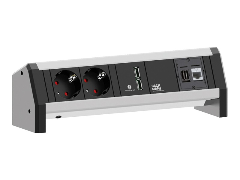 bachmann desk 1 2x power socket 1x usb charger 1x hdmi 1x