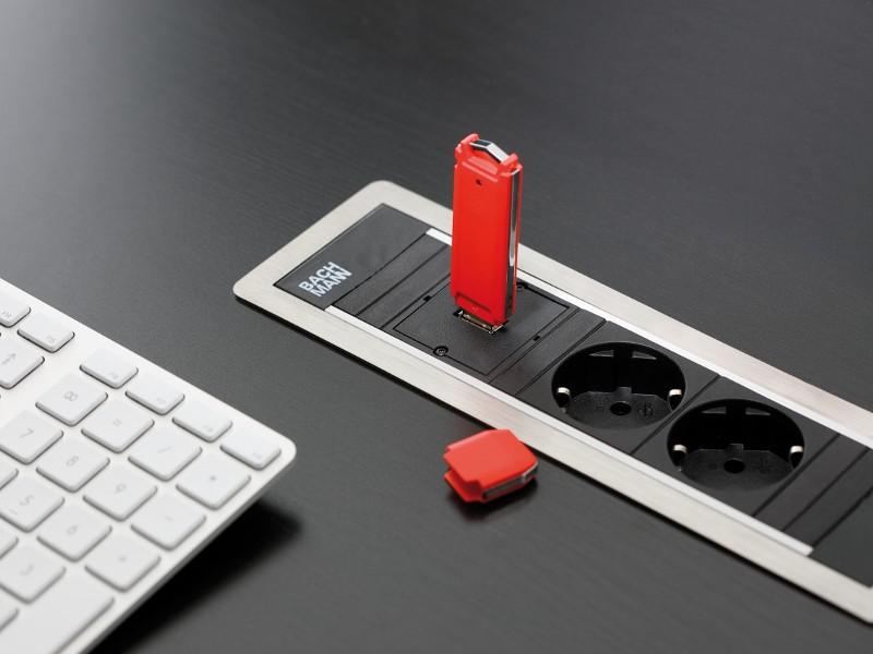 Bachmann Power Frame 1x socket 1x USB charger 2x custom (916.0041)